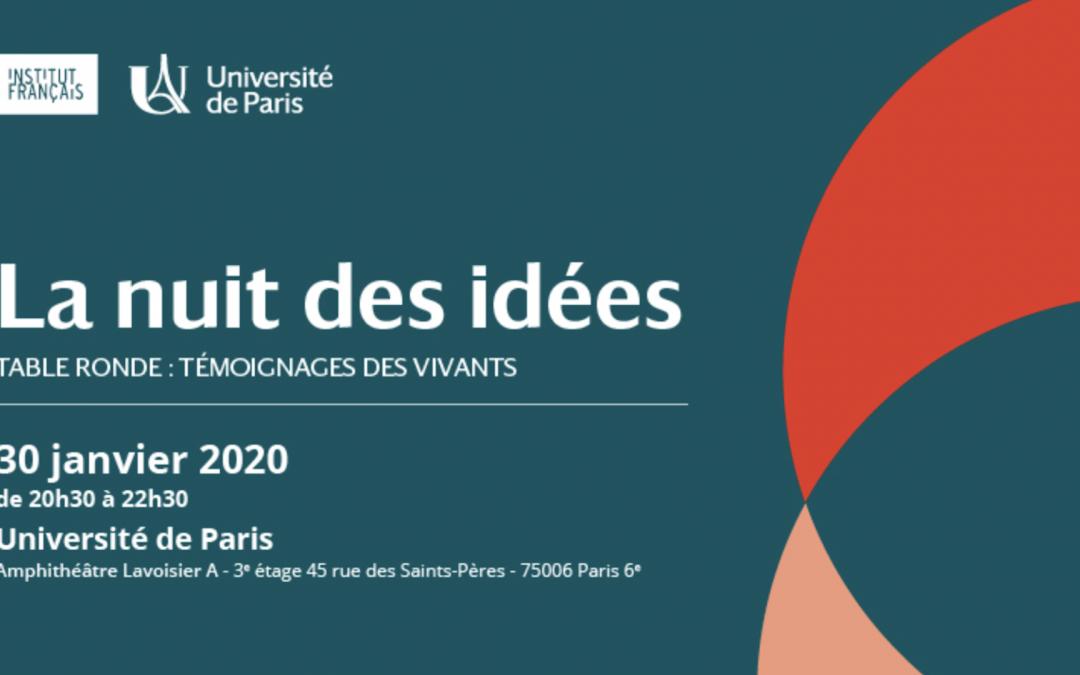 Nuit des Idées – Université de Paris