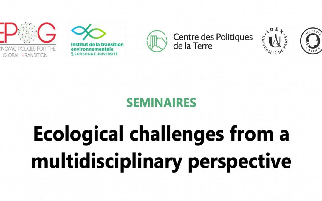 Séminaires EUR «Sustainability and Transitions» / EPOG+