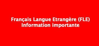 Attention : la rentrée des cours de FLE est repoussée au lundi 27 septembre 2021