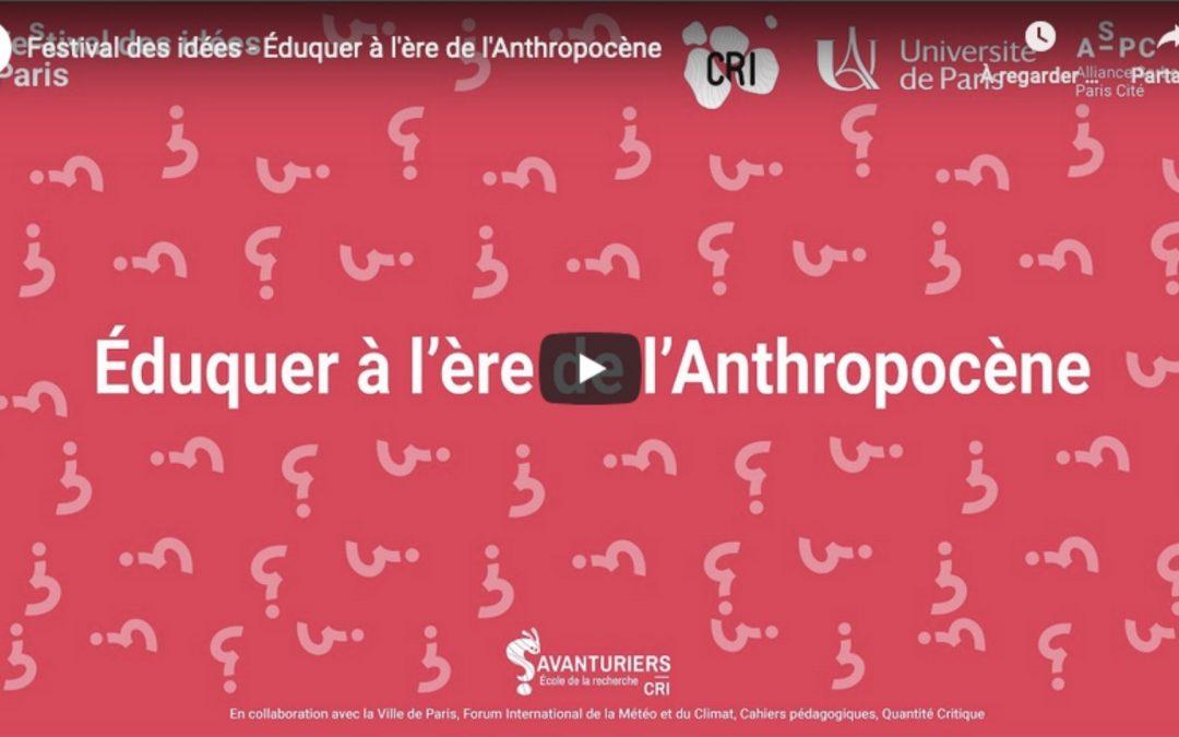 Éduquer à l'ère de l'anthropocène