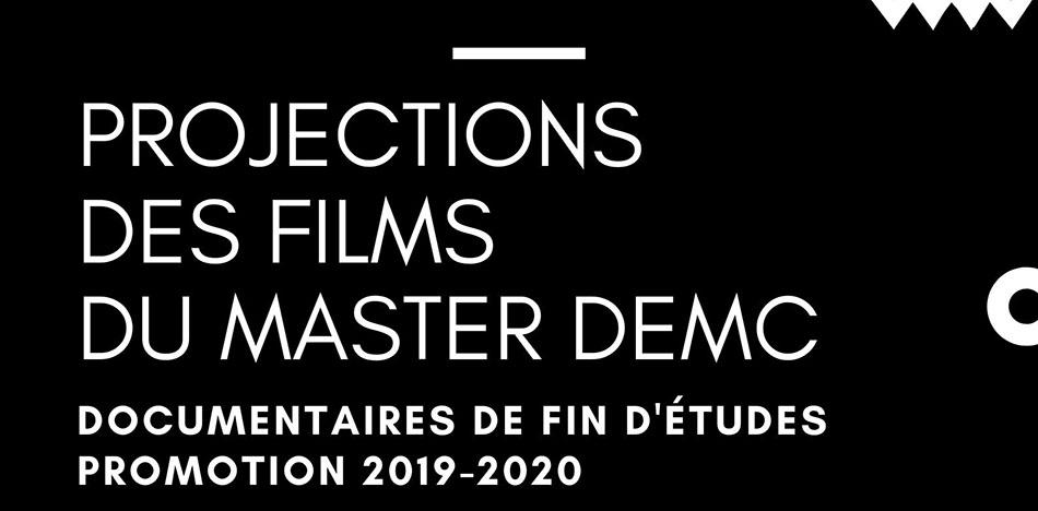 Projections des films de fin d'études du master DEMC