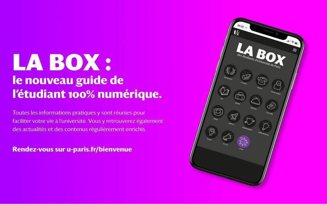 LA BOX : le nouveau guide de l'étudiant 100% numérique.