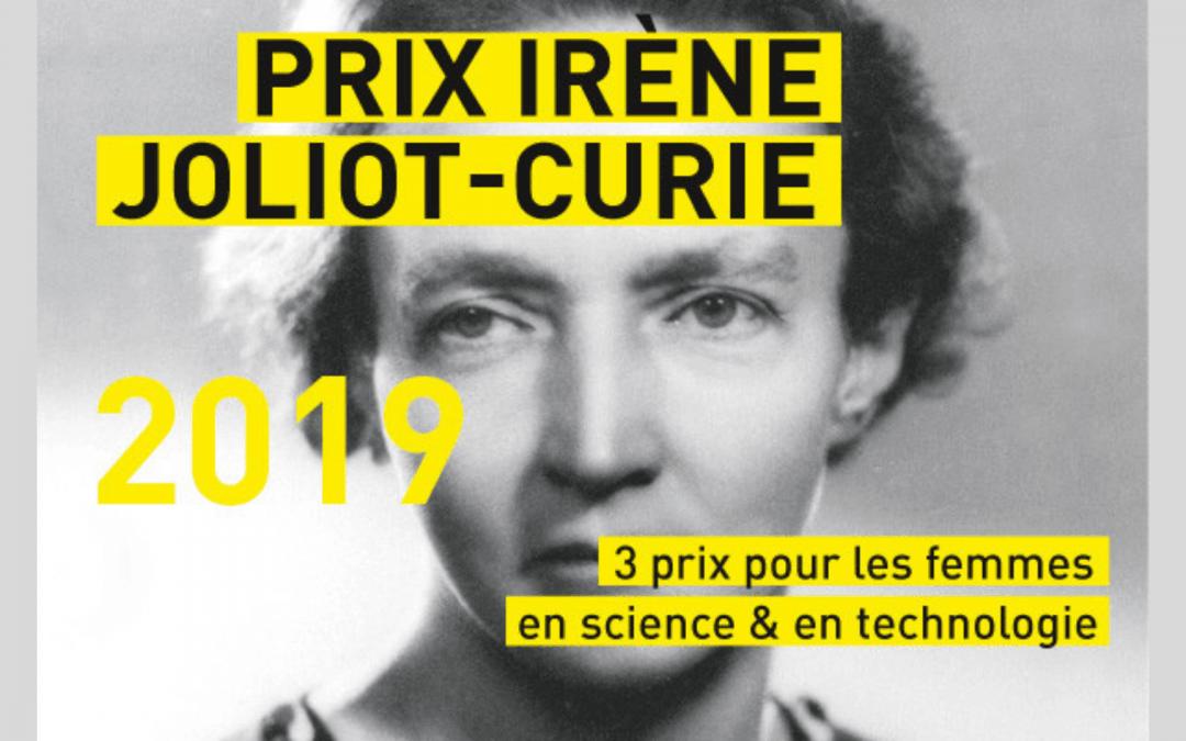 Prix Irène Joliot-Curie : lancement de l'édition 2019