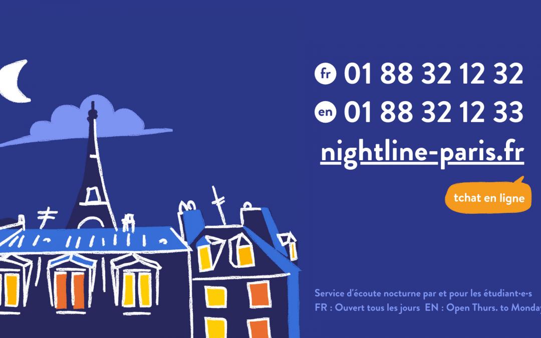 Nightline, un service d'écoute par et pour les étudiants
