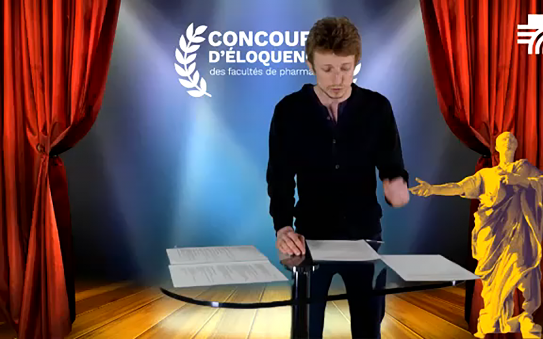 Benoît Frimon-Richard, lauréat du concours d'éloquence de pharmacie