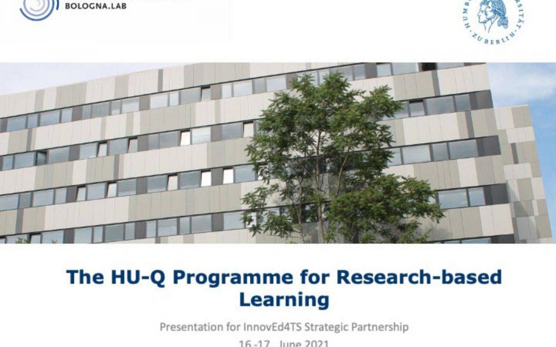 Research-based learning at Humboldt-Universität zu Berlin