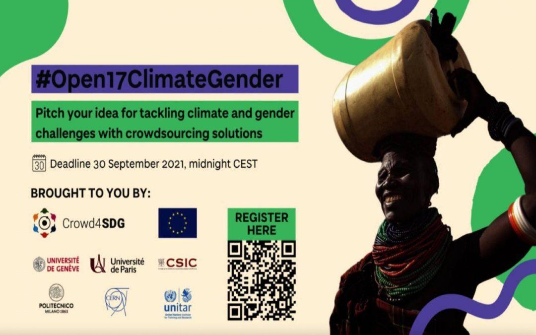 Appel à projets: changement climatique et égalité entre les sexes